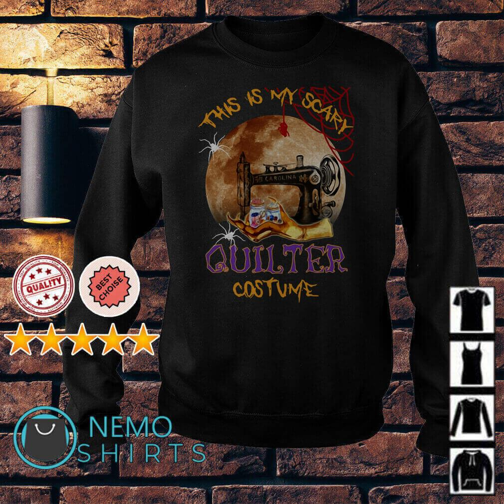 This is my scary quilter costume Halloween Sweater