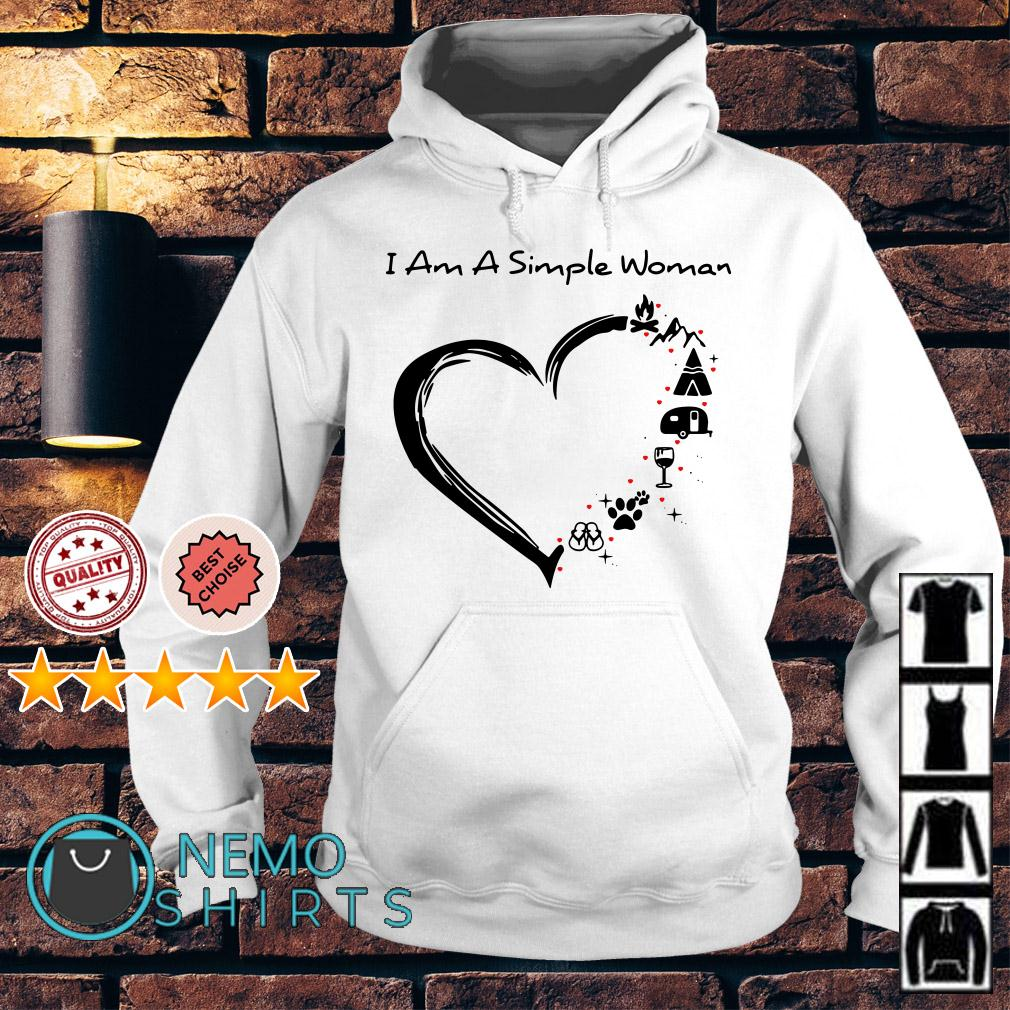 I am a simple woman I love camping Hoodie