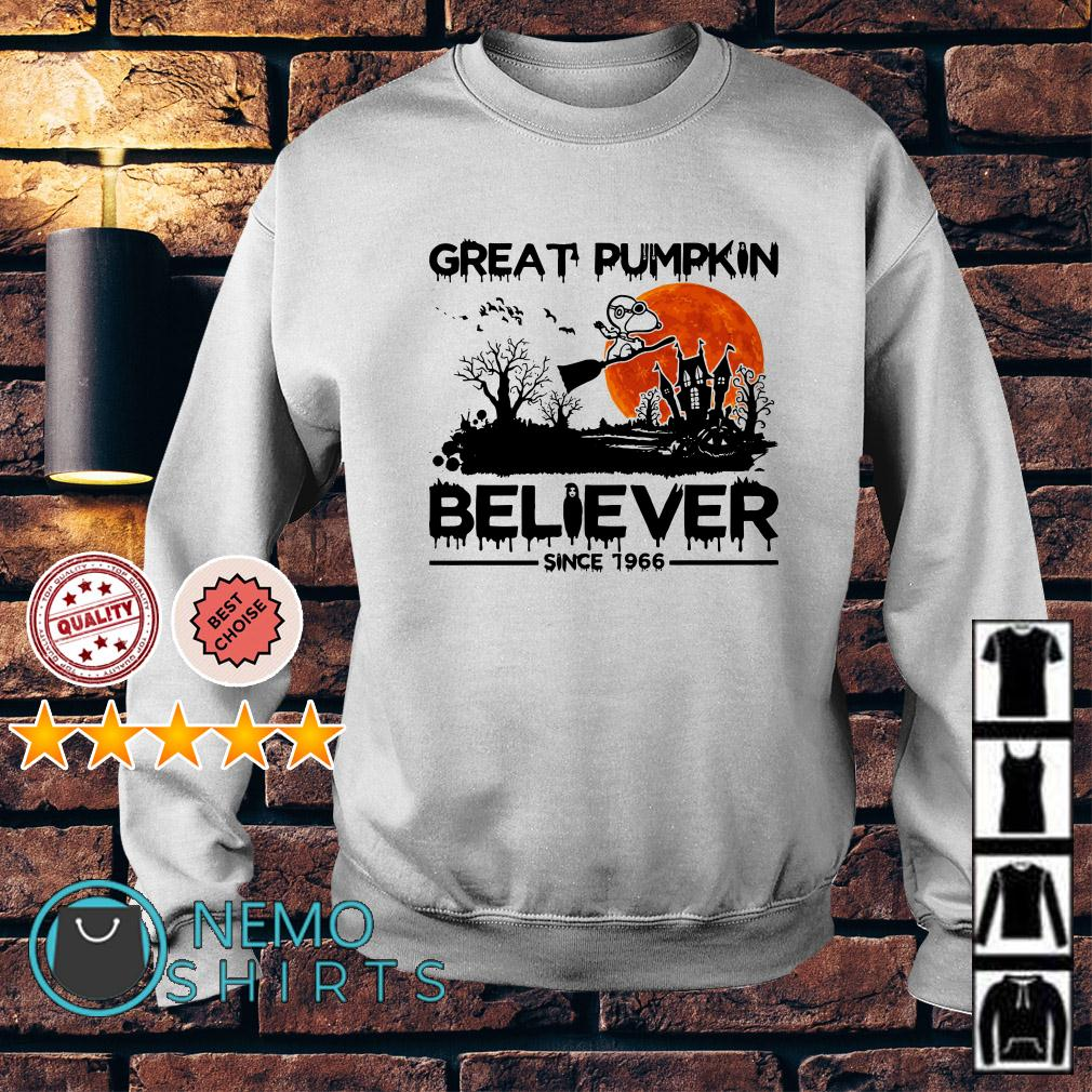Snoopy great pumpkin believer since 1966 Halloween Sweater