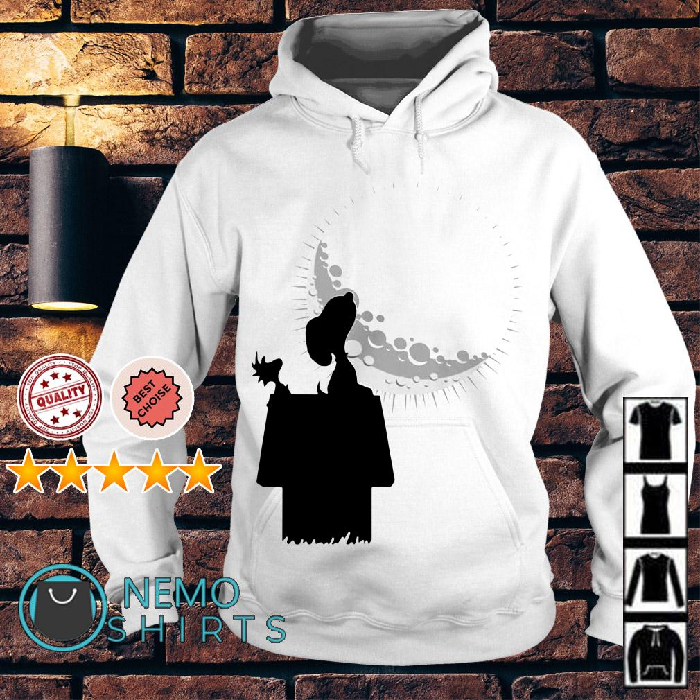Snoopy and Woodstock looking at the moon Hoodie