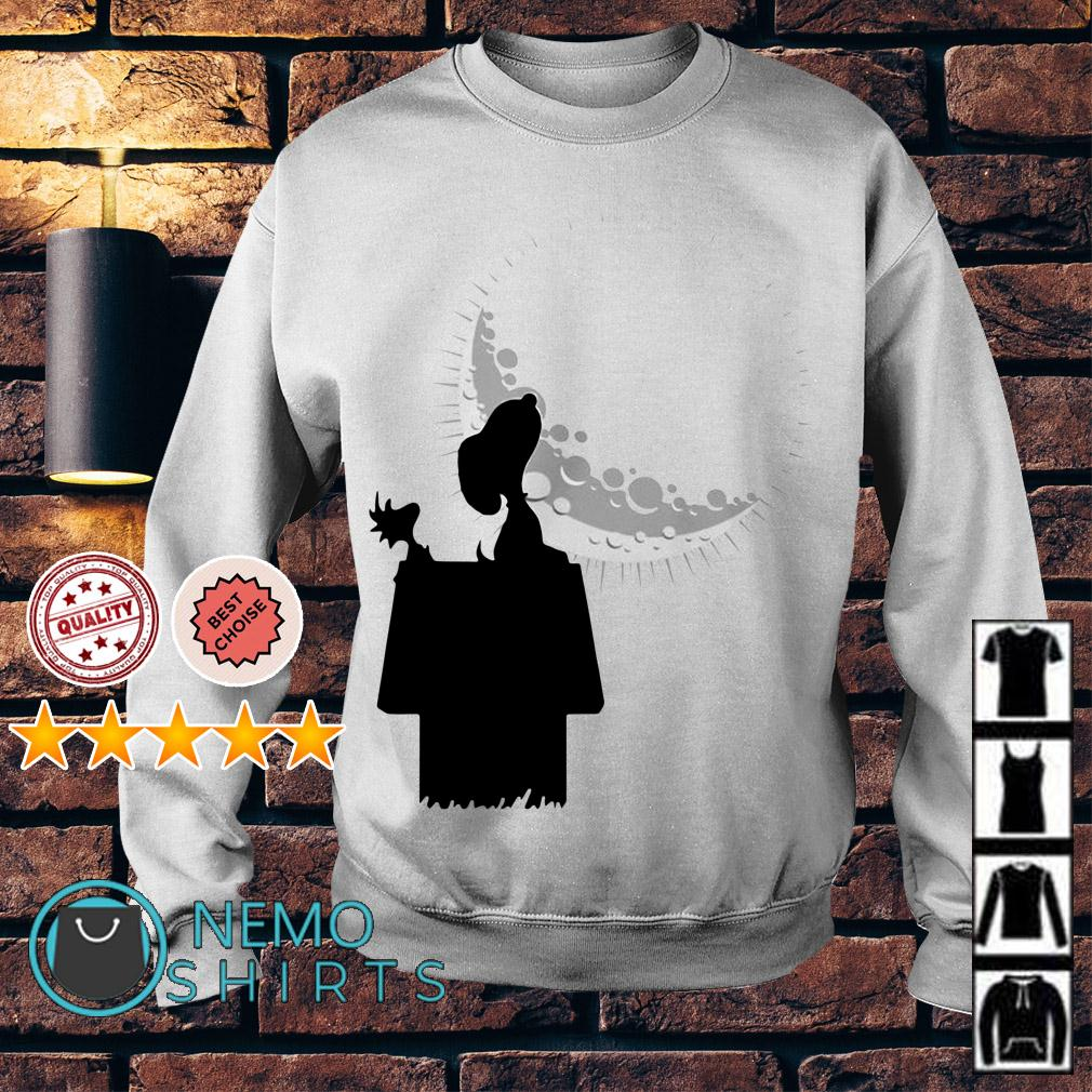 Snoopy and Woodstock looking at the moon Sweater