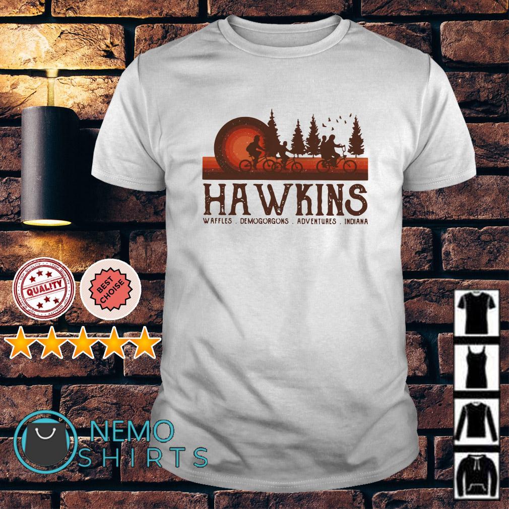 Stranger Things Hawkins waffles Demogorgon shirt