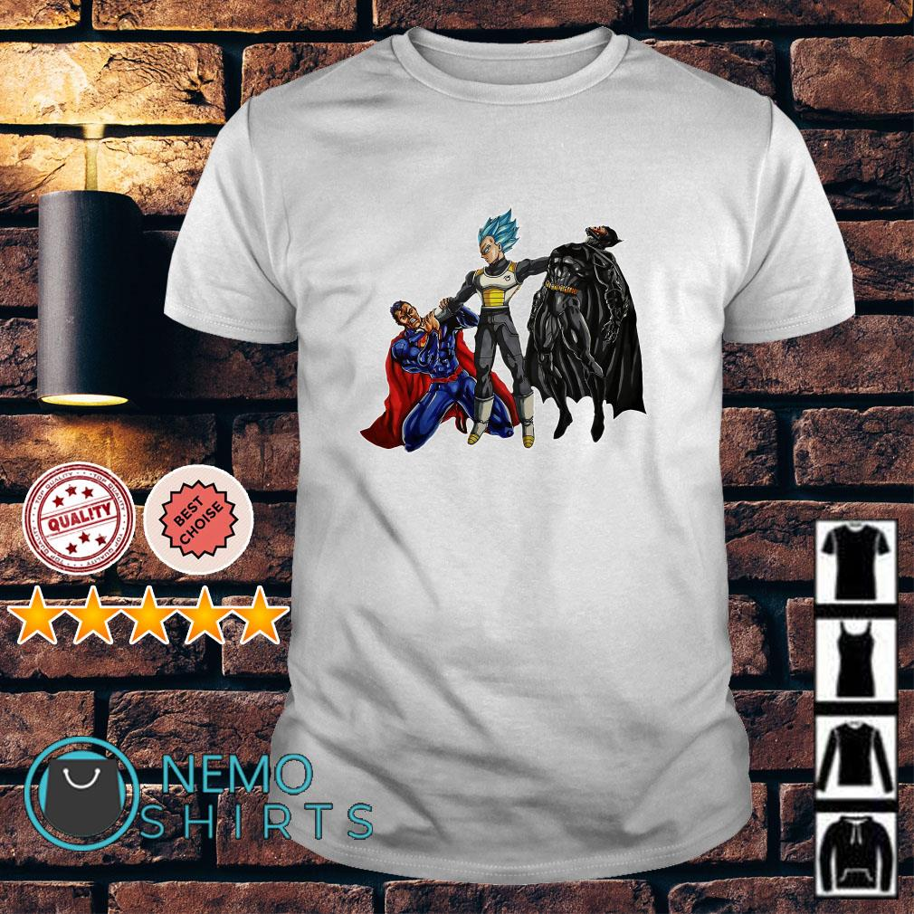 Vegeta Superman Batman Who would win in a fight shirt