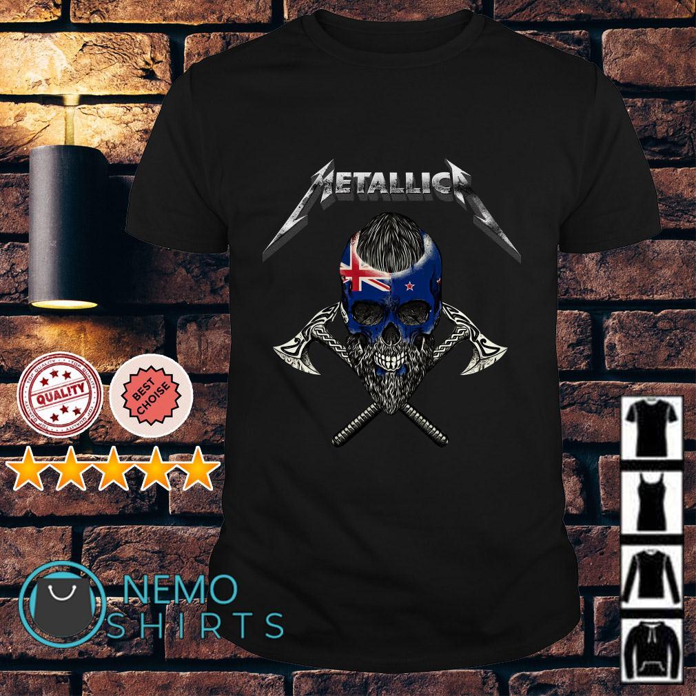 Viking New Zealand flag Metallica shirt