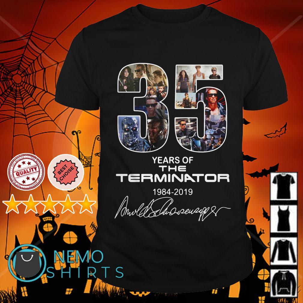 35 years of the Terminator 1964 2019 signature shirt
