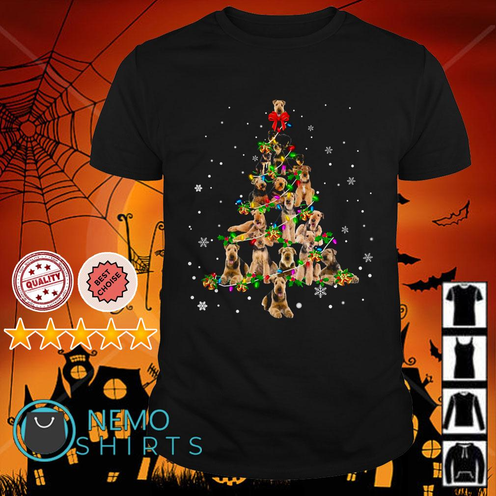 Airedale Terrier Christmas tree shirt