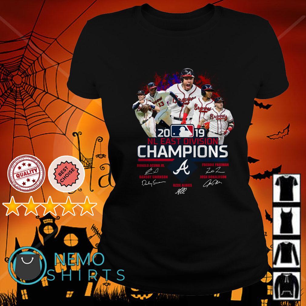 Atlanta Braves 2019 NL East division champions signature Ladies tee