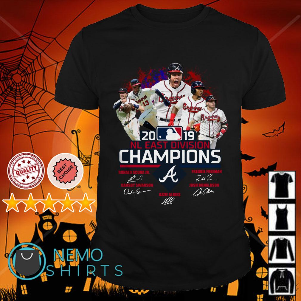 Atlanta Braves 2019 NL East division champions signature shirt