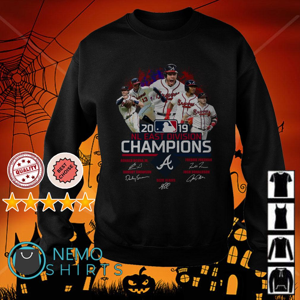 Atlanta Braves 2019 NL East division champions signature Sweater