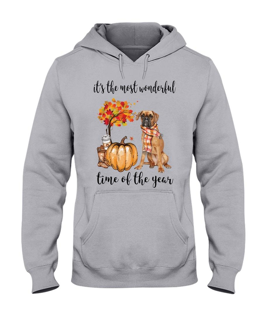 Boxer and pumpkin it's the most wonderful time of the year Hoodie