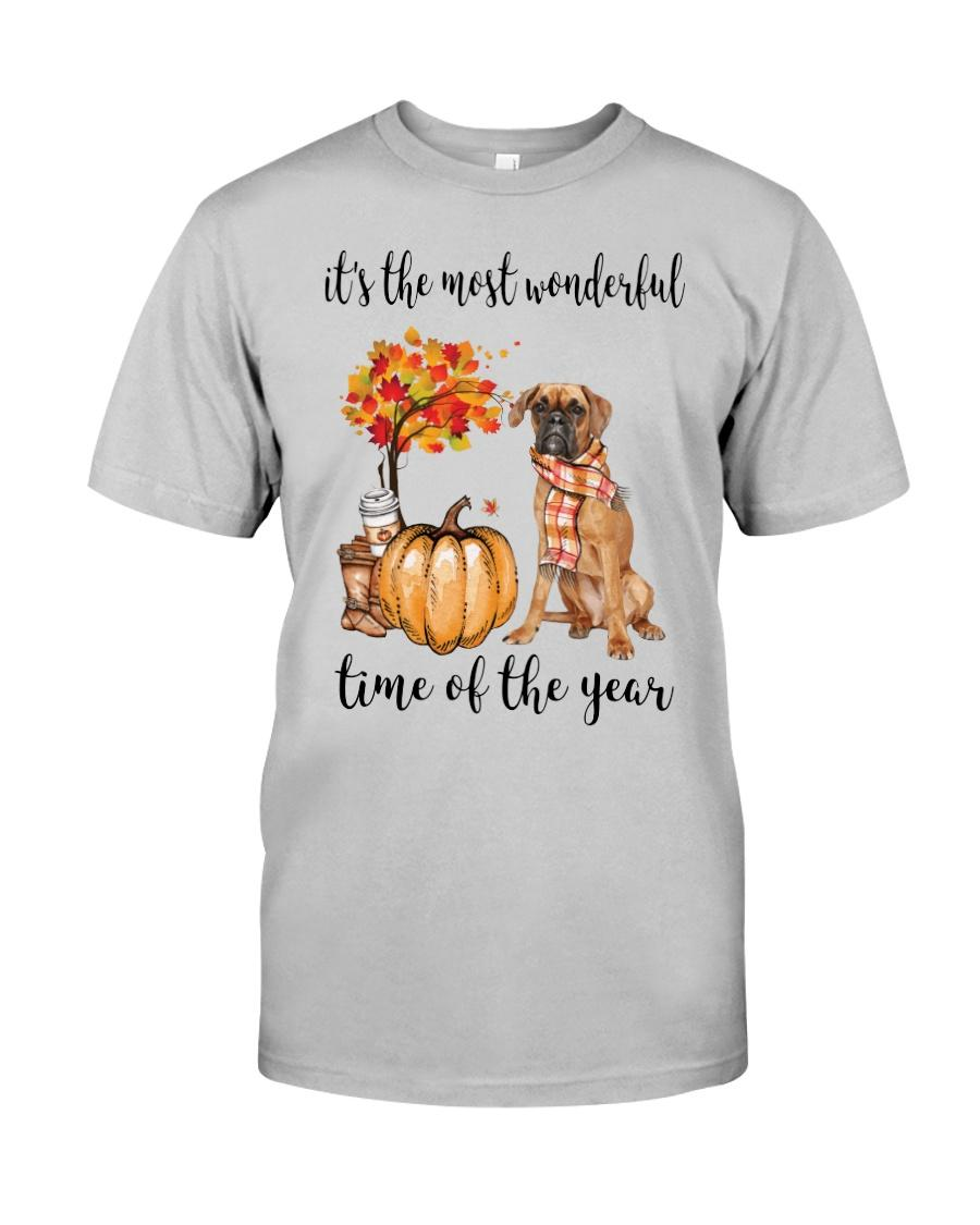 Boxer and pumpkin it's the most wonderful time of the year shirt