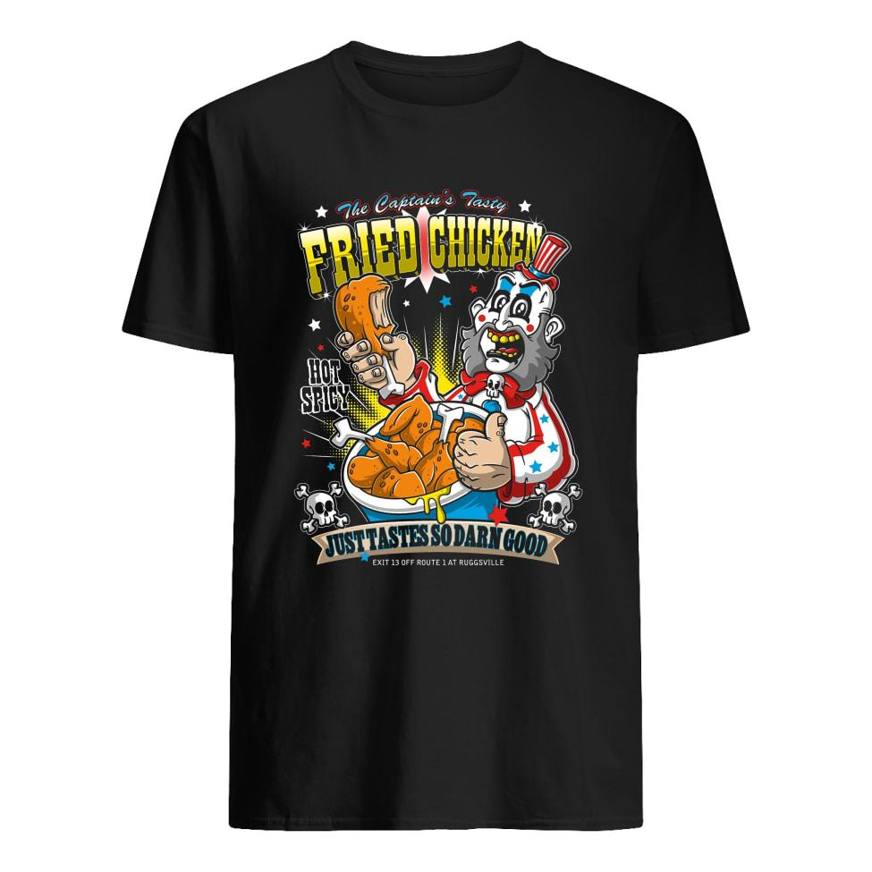 Captain Spaulding The Captain's tasty fried chicken hot spicy shirt