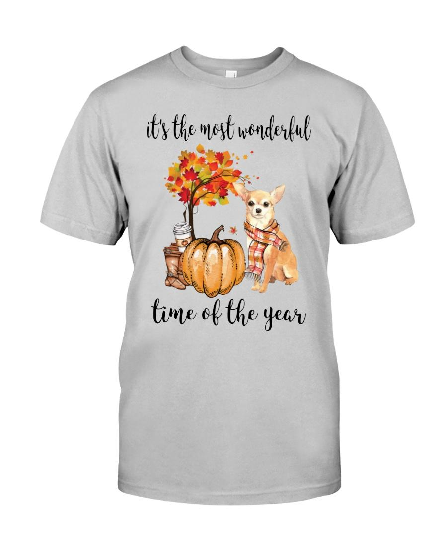 Chihuahua and pumpkin it's the most wonderful time of the year shirt