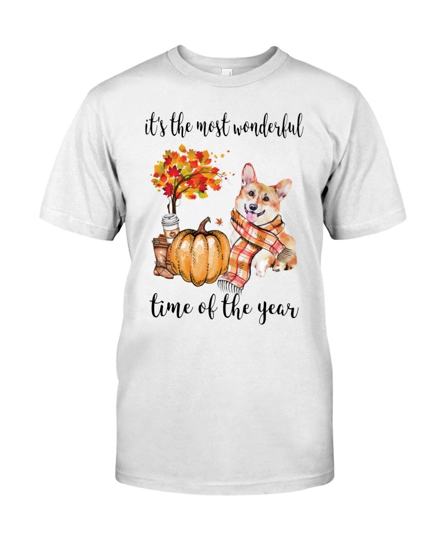 Corgi and pumpkin it's the most wonderful time of the year shirt