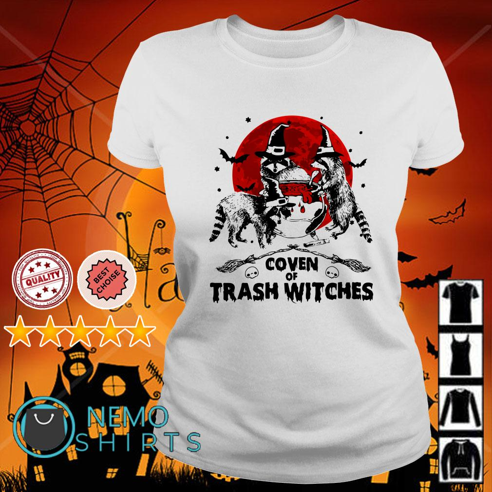 Coven of trash witches Halloween Ladies tee