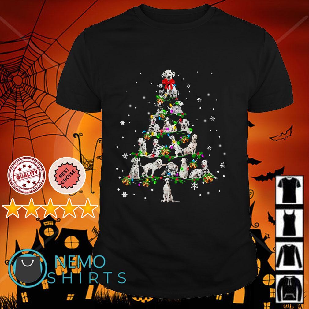 Dalmatian Christmas Tree shirt