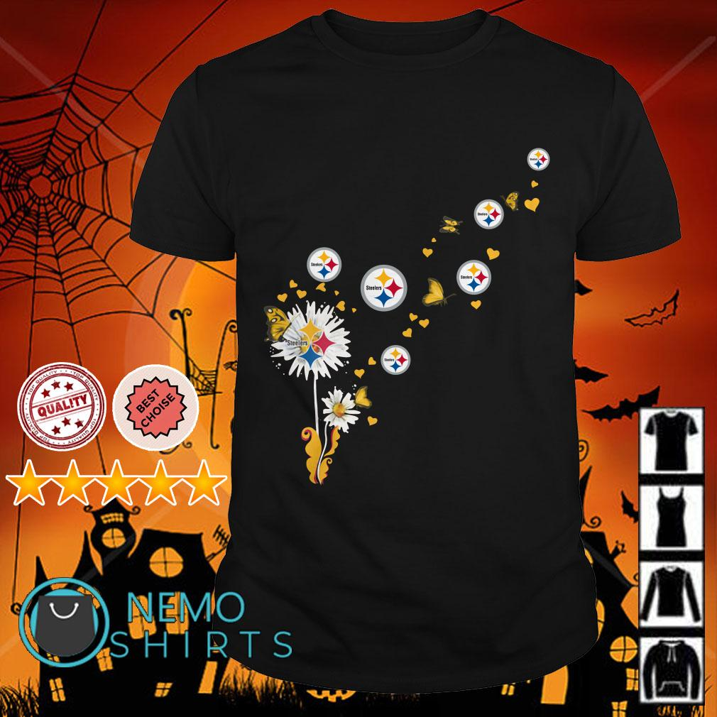 Dandelion Pittsburgh Steelers Butterfly shirt