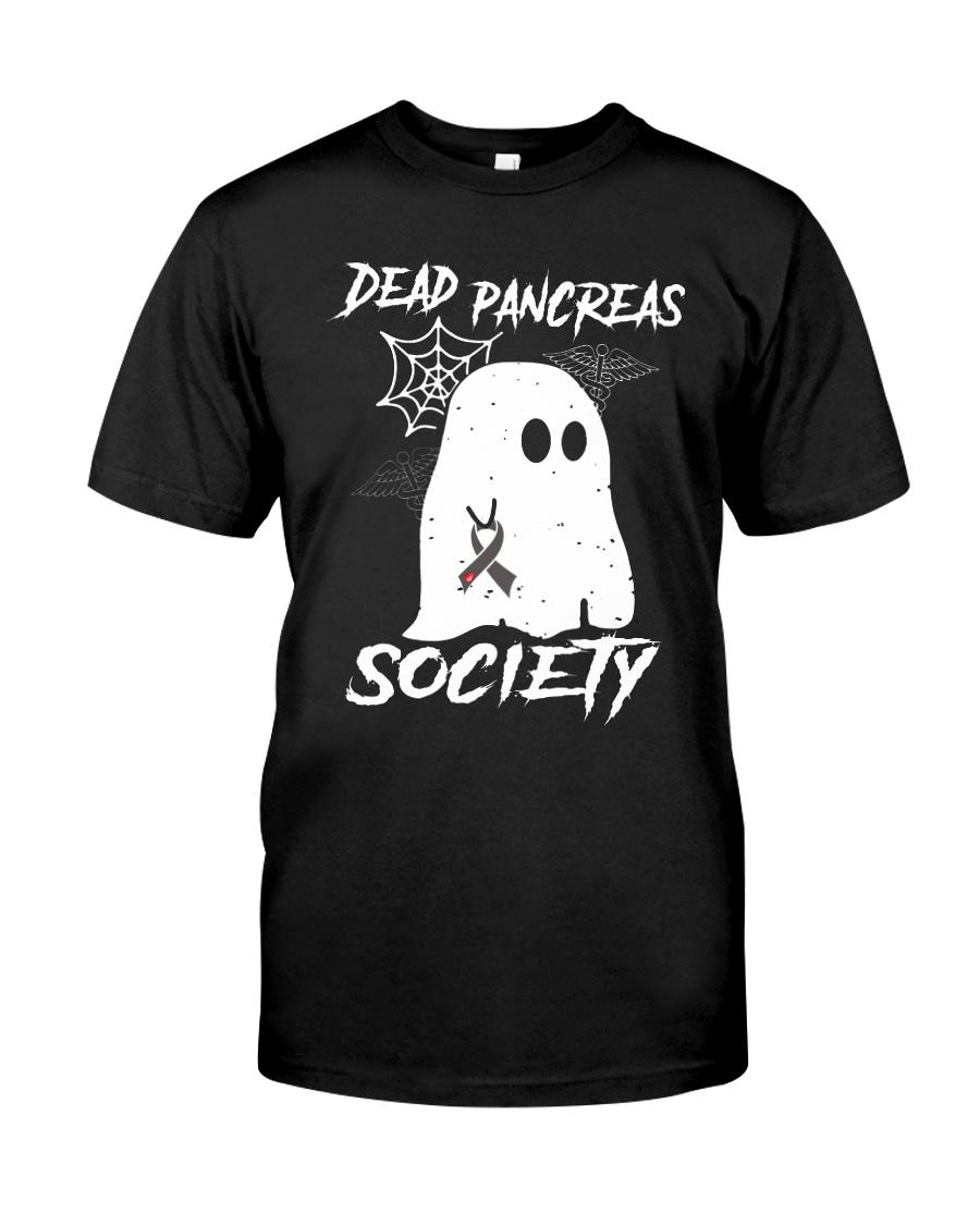 Dead Pancreas Society Diabetes Awareness Ghost shirt