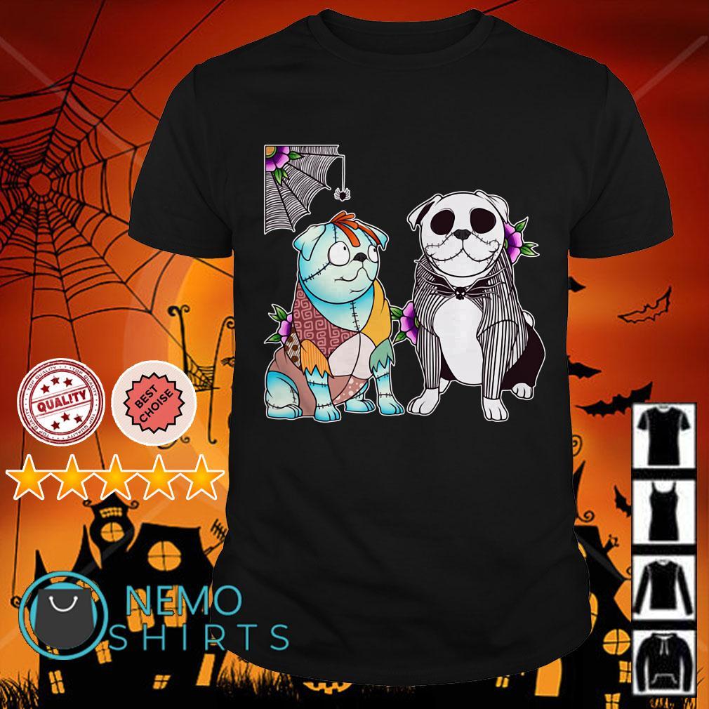 Dog Jack and Sally Halloween shirt