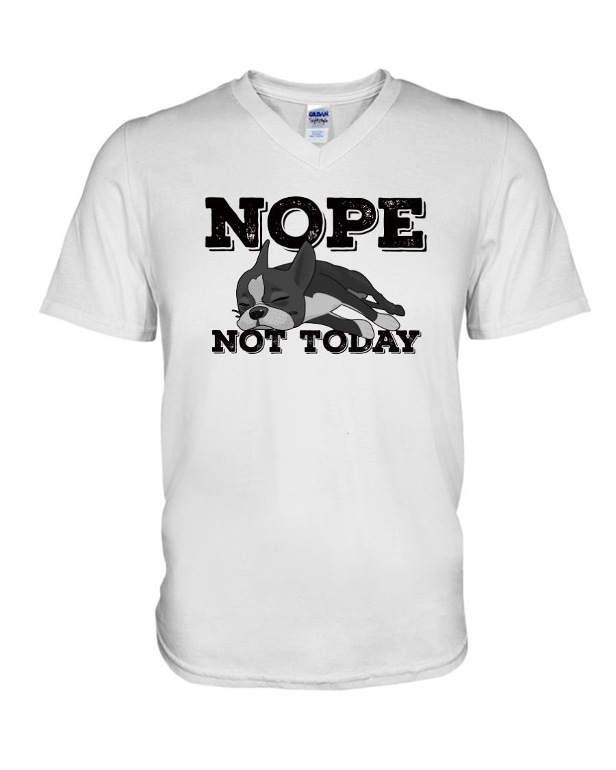Dog nope not today V-neck t-shirt