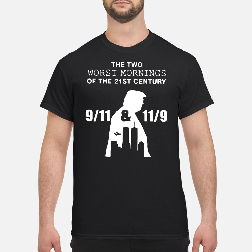 Donald Trump donald trump the two worst mornings of the 21st century shirt