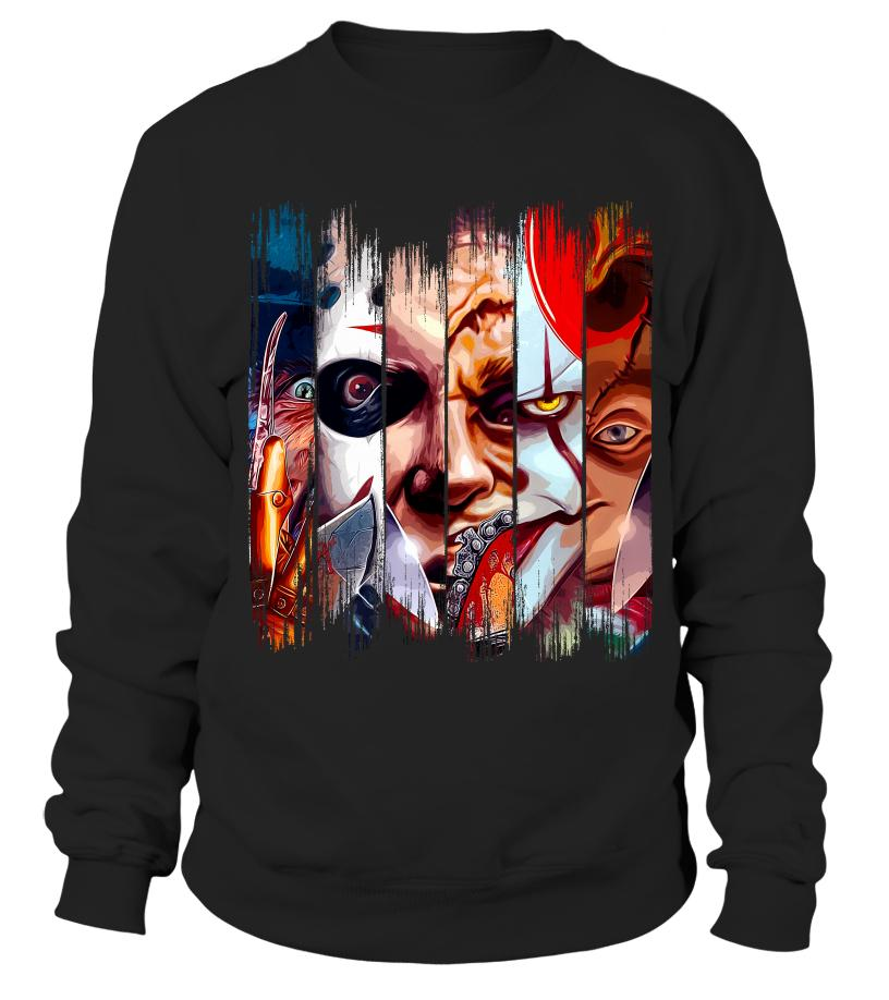 Freddy Krueger Jigsaw Michael Myers Leatherface Pennywise Chucky Sweater