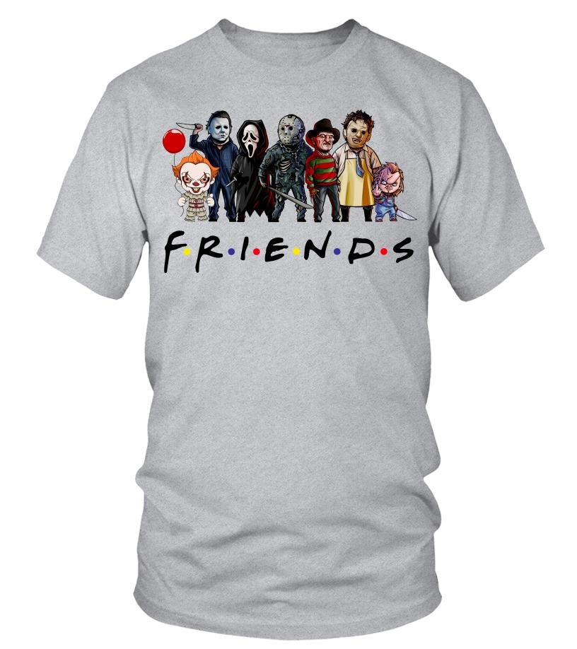 Friends horror characters chibi shirt