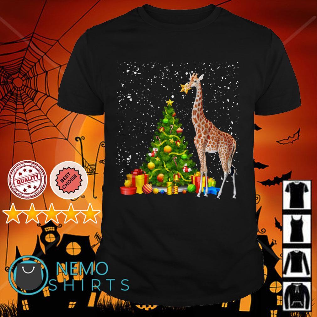 Giraffe funny Christmas shirt