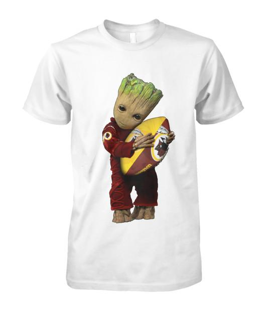 Groot hugging Washington Redskins shirt