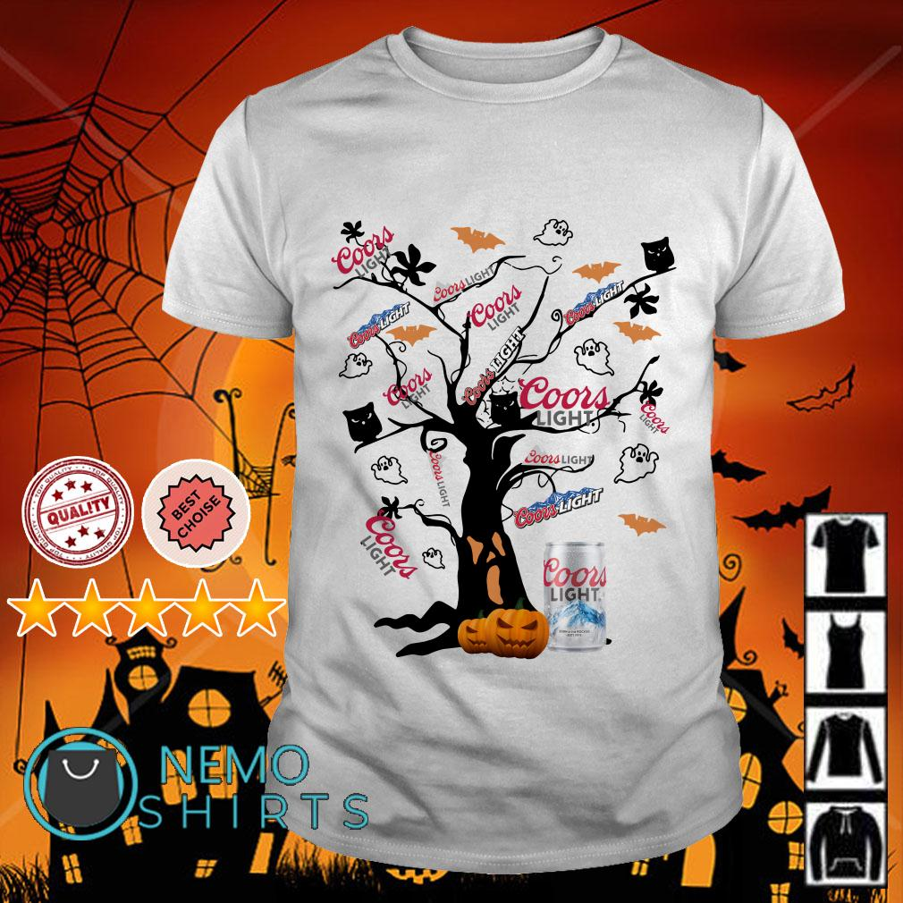 Halloween tree Coors Light shirt