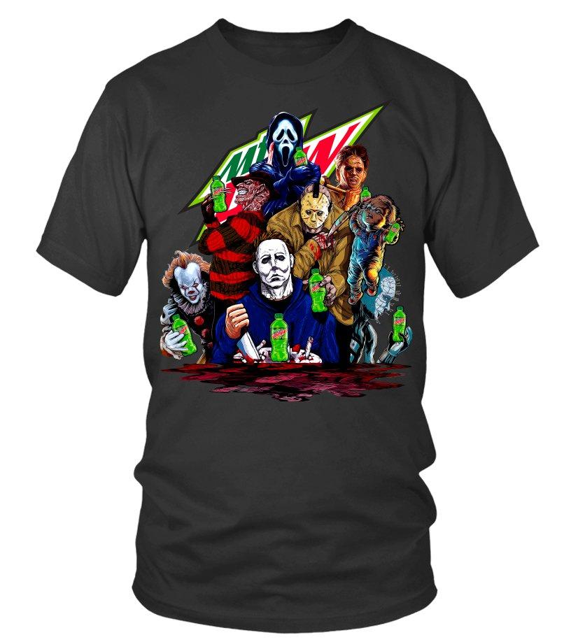 Horror Character Mountain Dew shirt
