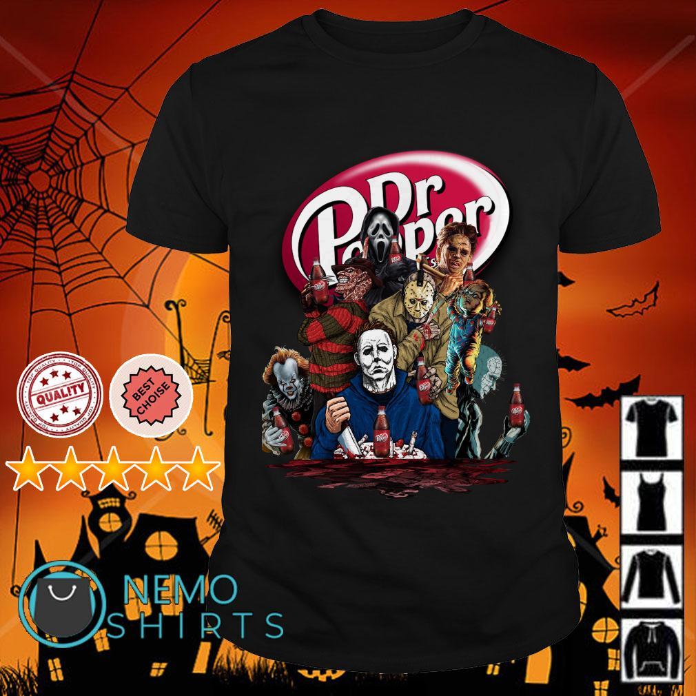 Horror character movie Dr pepper shirt