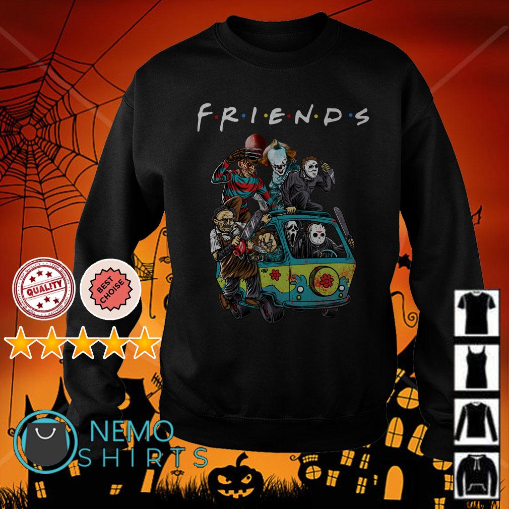Horror characters on the hippie van Friends Sweater