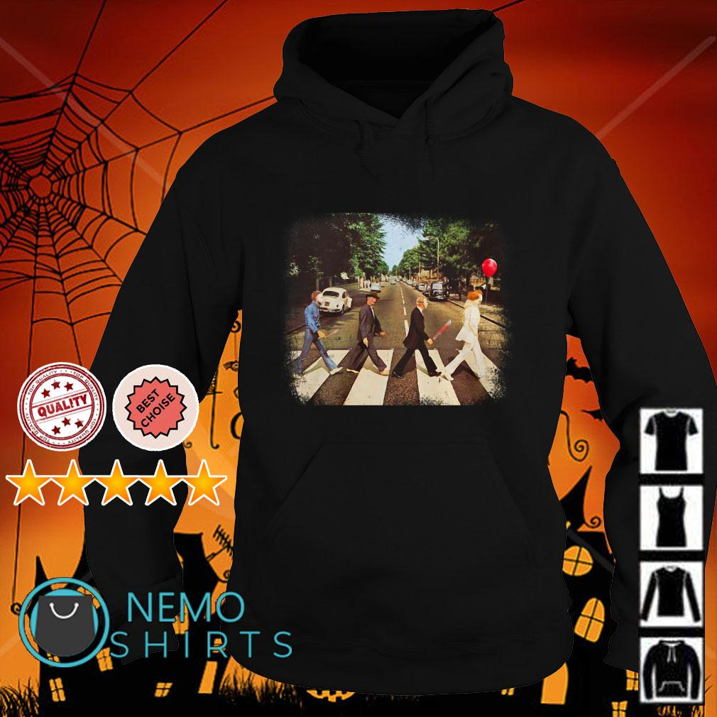 Horror Movie Characters Abbey Road Halloween Hoodie
