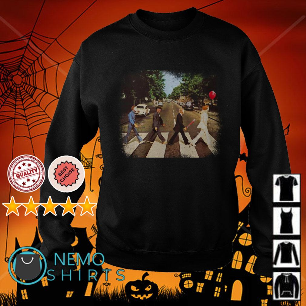 Horror Movie Characters Abbey Road Halloween Sweater