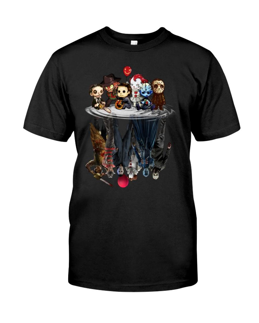 Horror movie characters water mirror reflection shirt