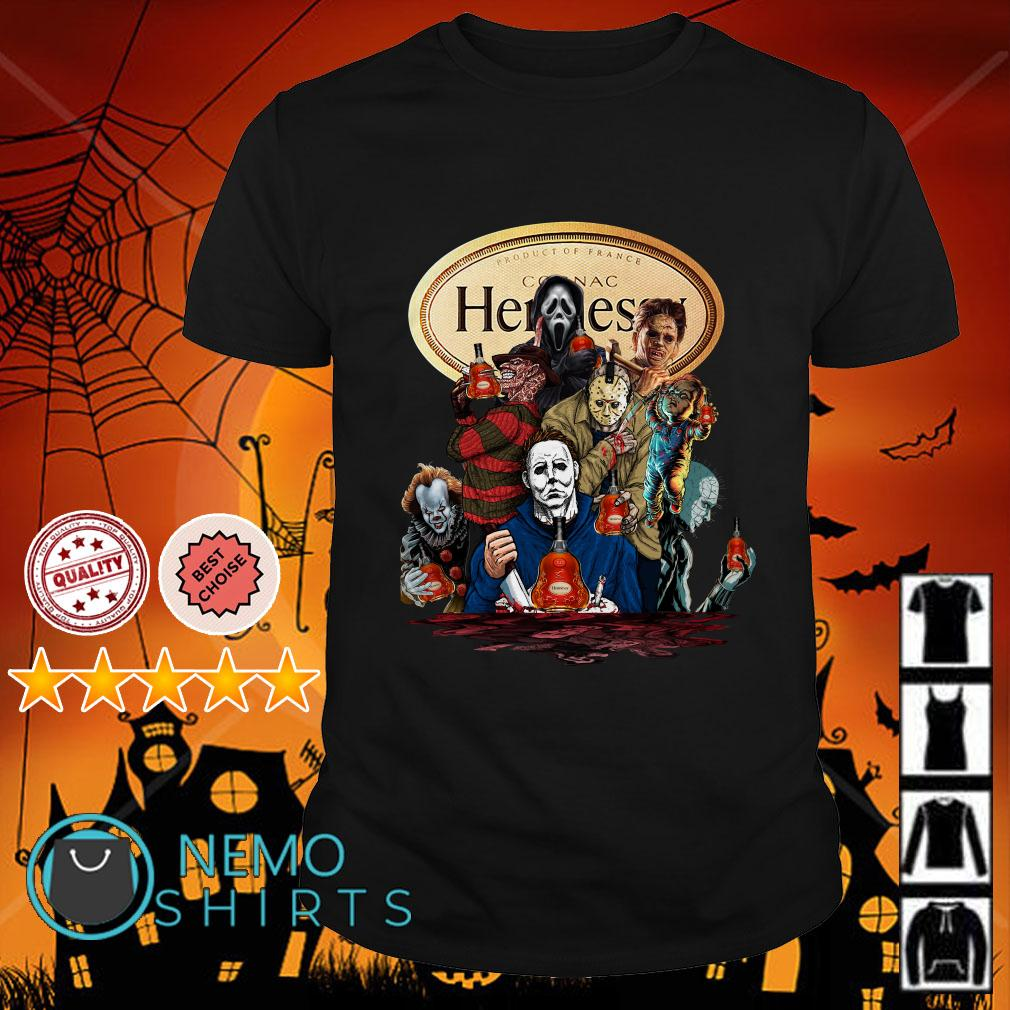 Horror movies character Hennessy shirt