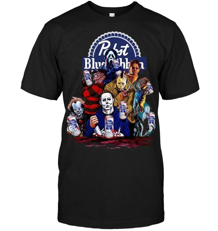 Horror movies character Pabst Blue Ribbon shirt