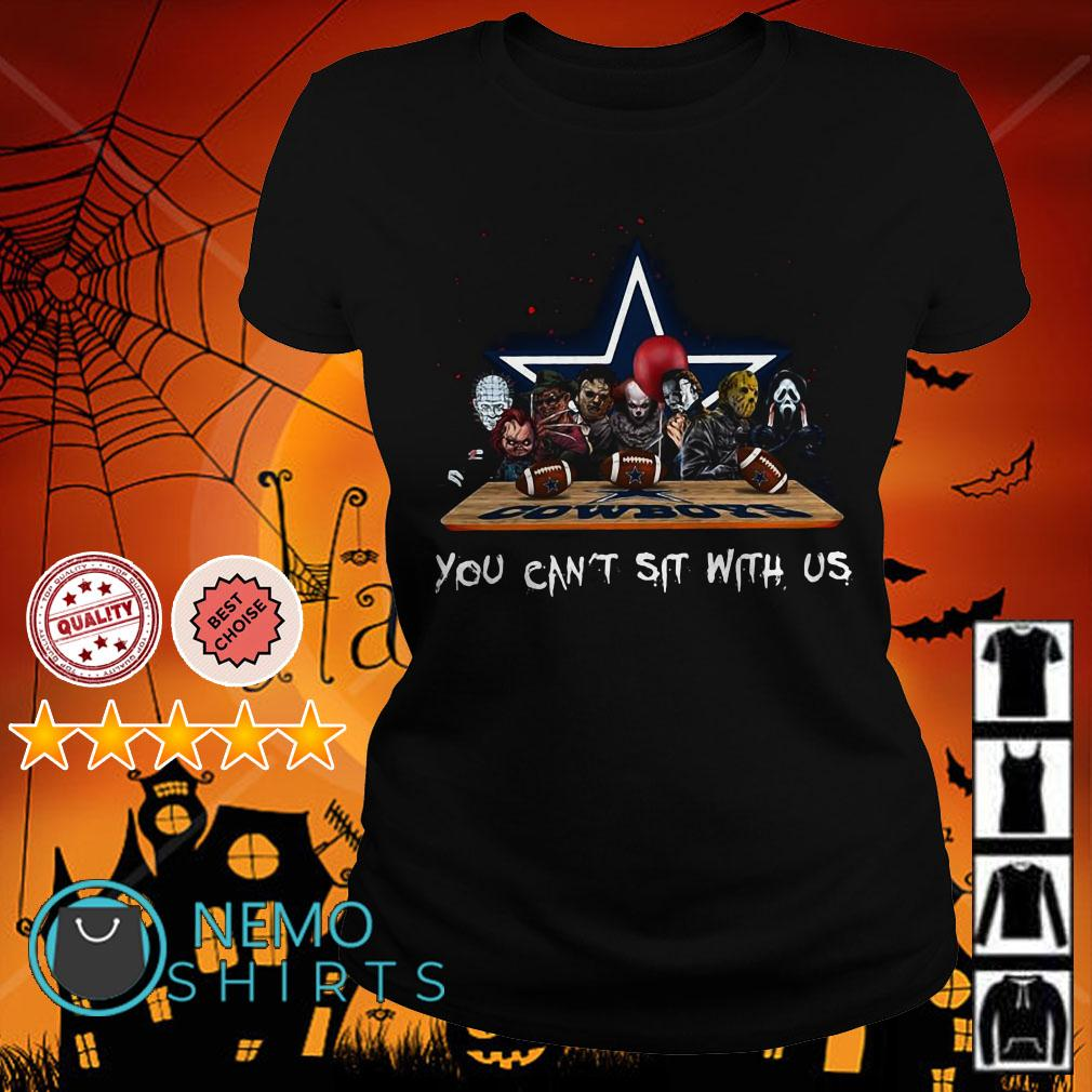 Horror Movies Characters You Can Sit with US Dallas Cowboys Ladies tee