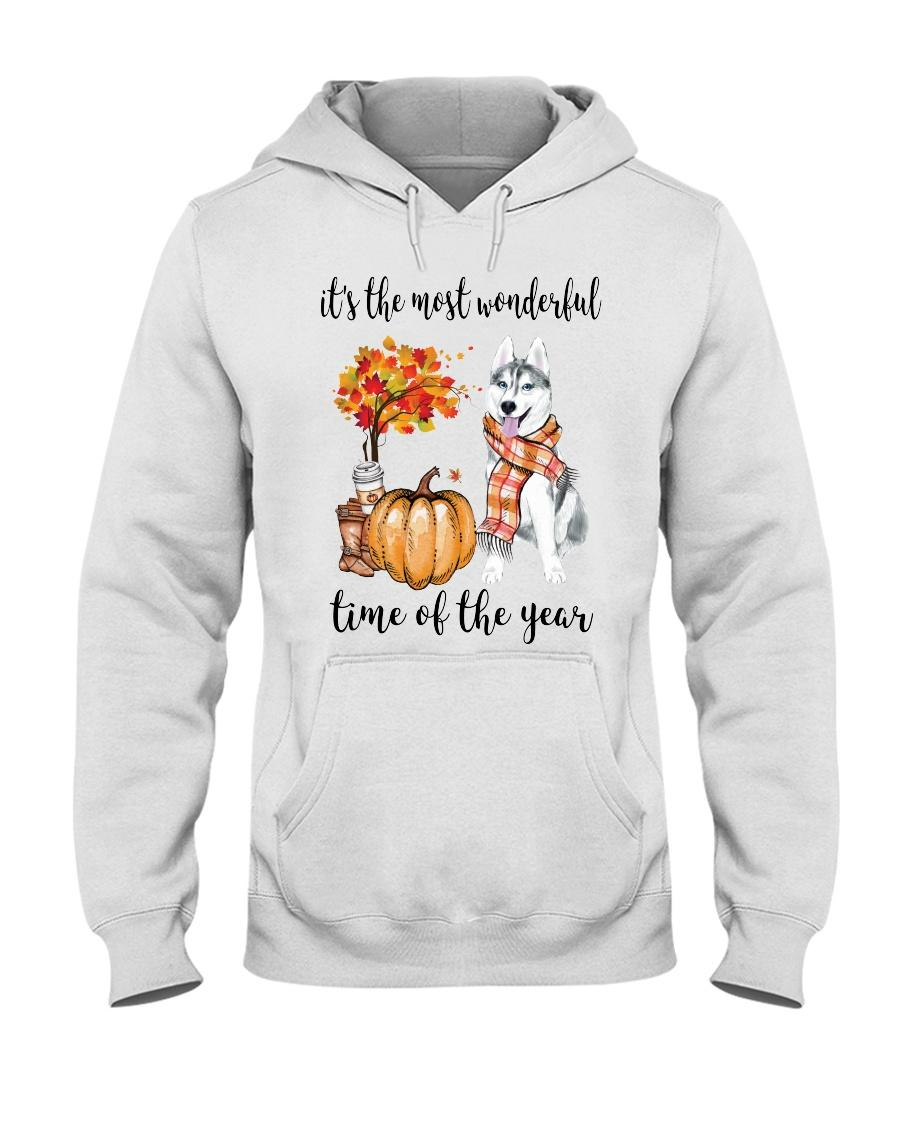 Husky and pumpkin it's the most wonderful time of the year Hoodie