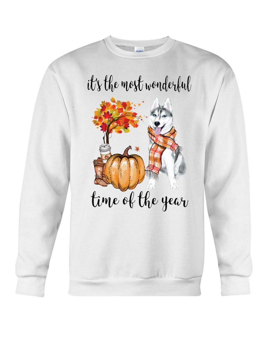 Husky and pumpkin it's the most wonderful time of the year Sweater