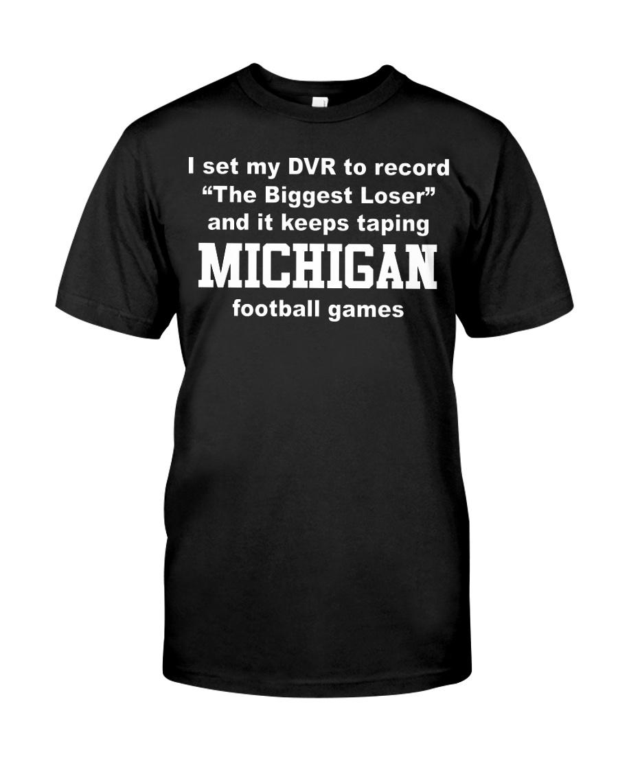 I set my DVR to record the biggest Michigan shirt