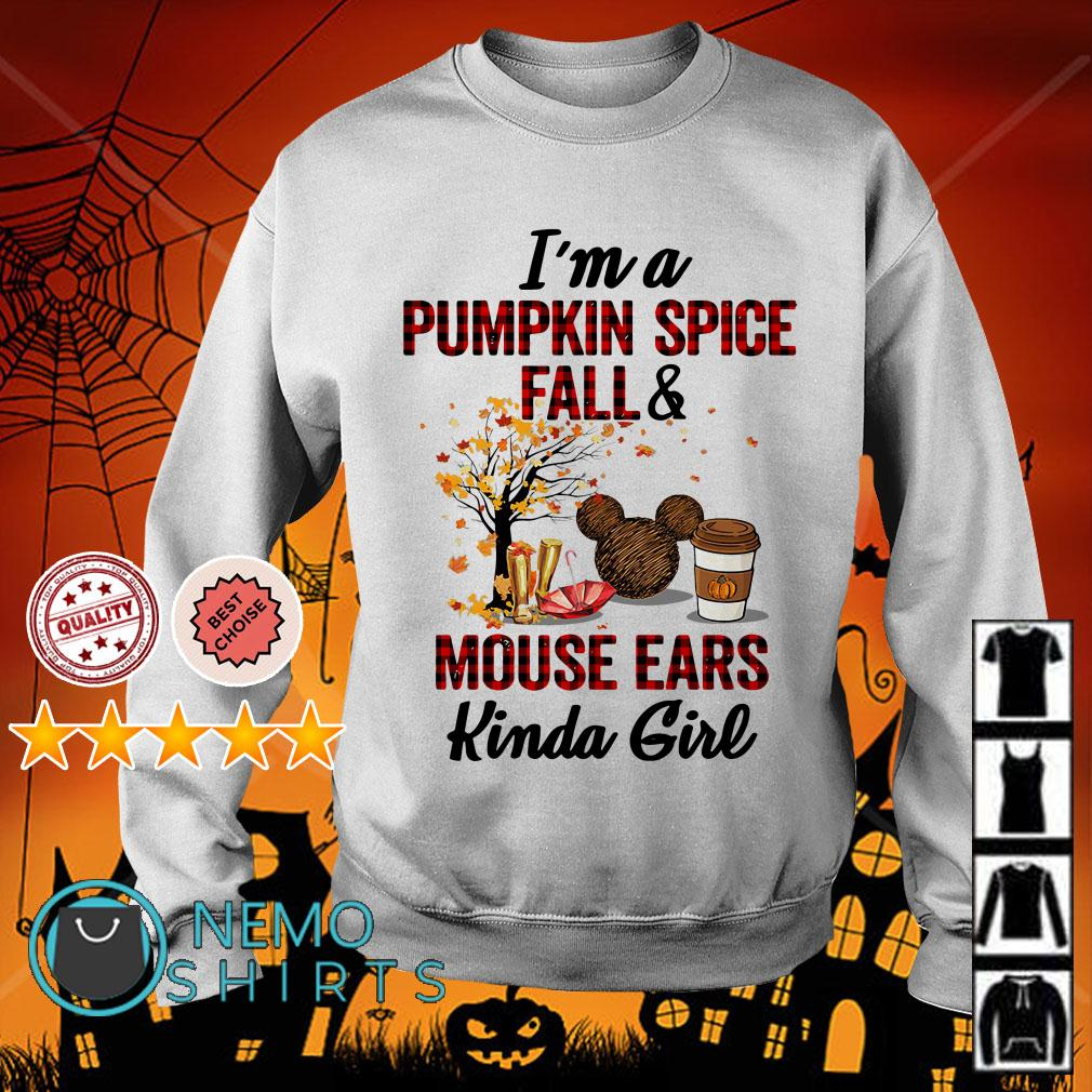 I'm a pumpkin spice fall and Mouse ears kinda girl Sweater