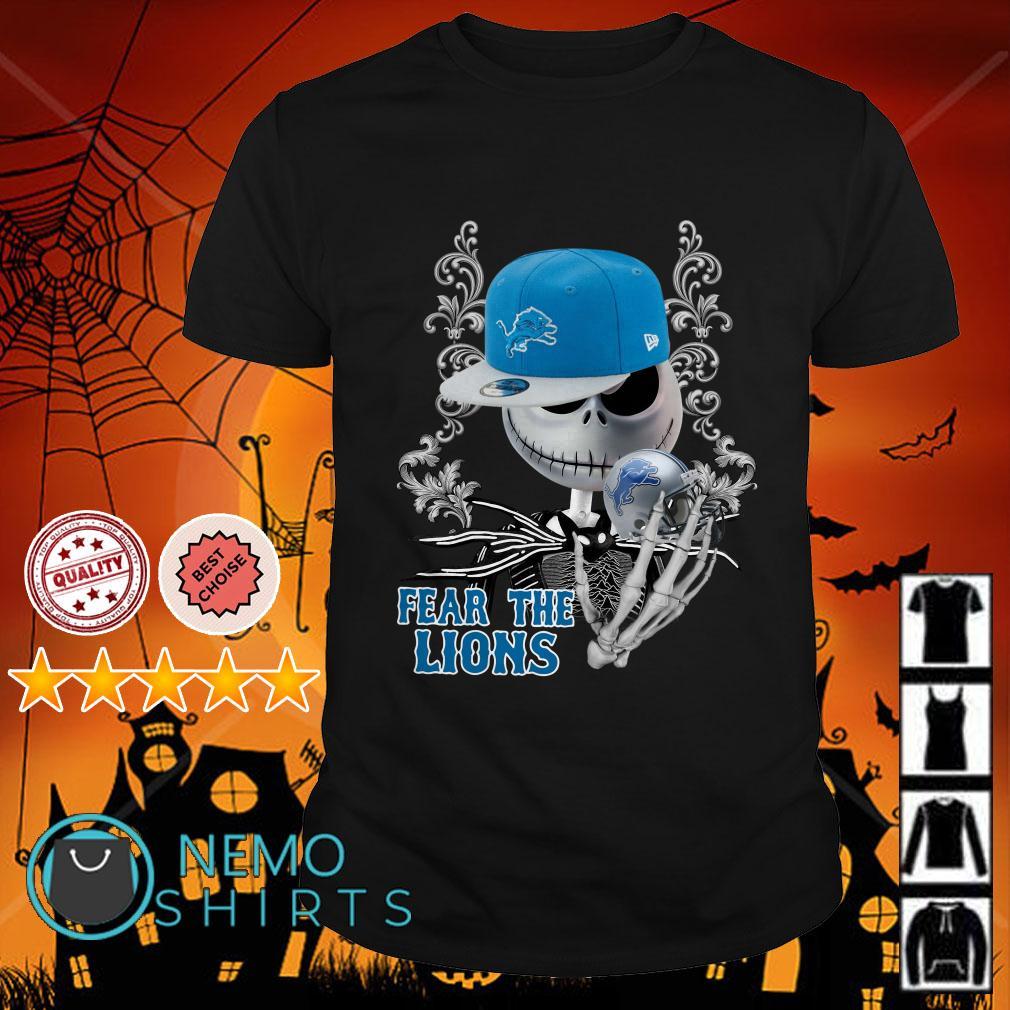 Jack Skellington Fear The Detroit Lions shirt
