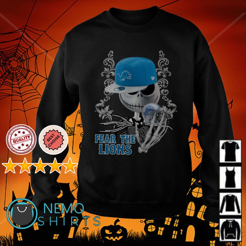 Jack Skellington Fear The Detroit Lions Sweater