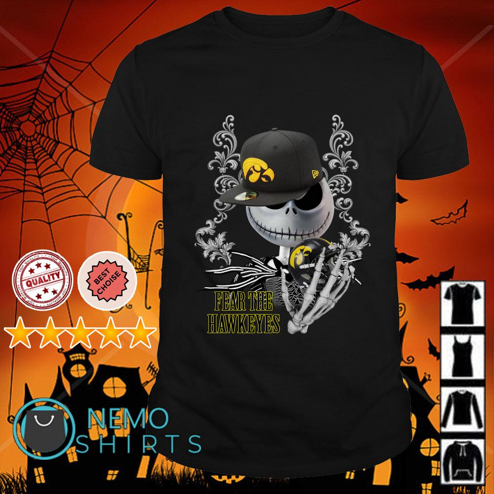 Jack Skellington Fear The Hawkeyes shirt
