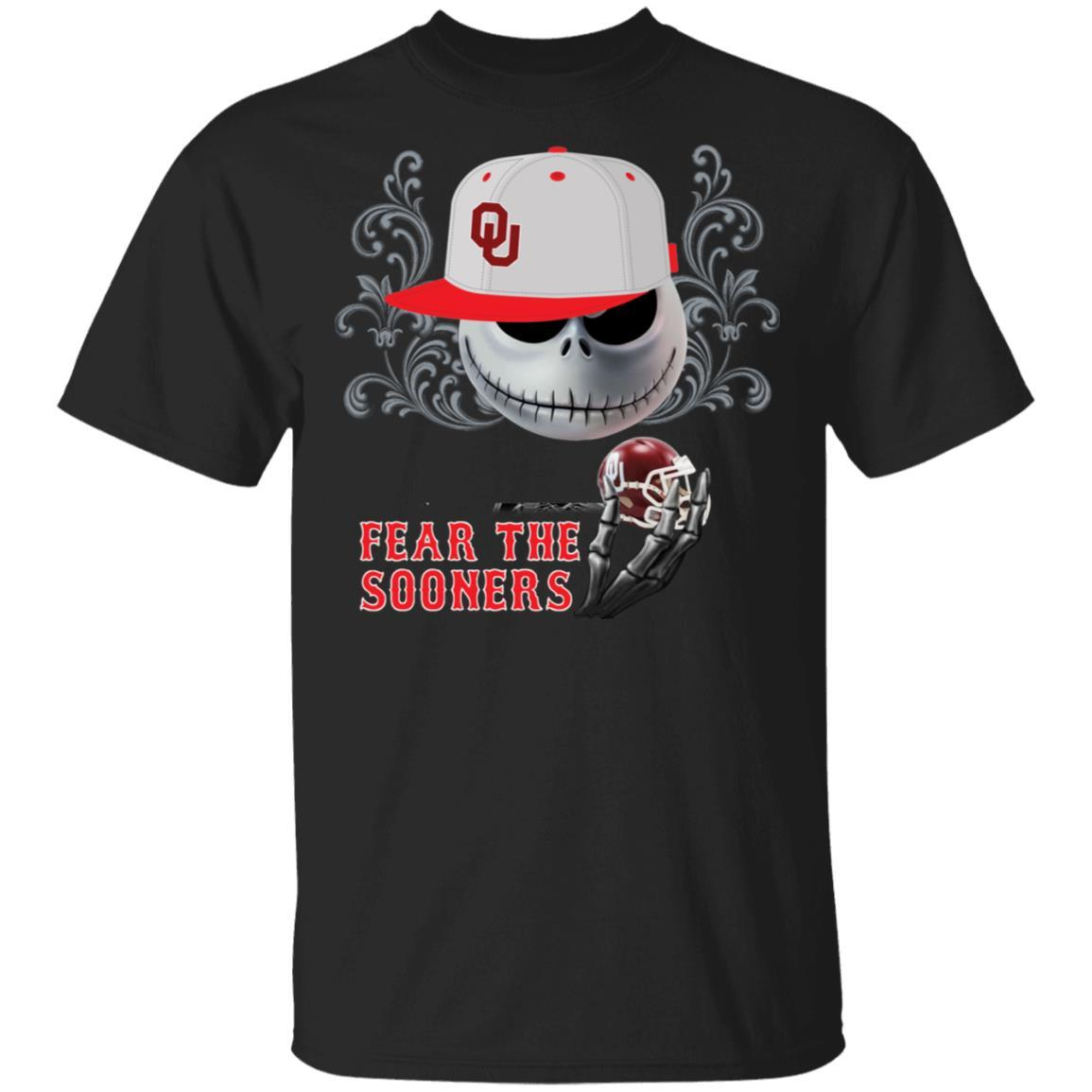 Jack Skellington fear the Oklahoma Sooners shirt