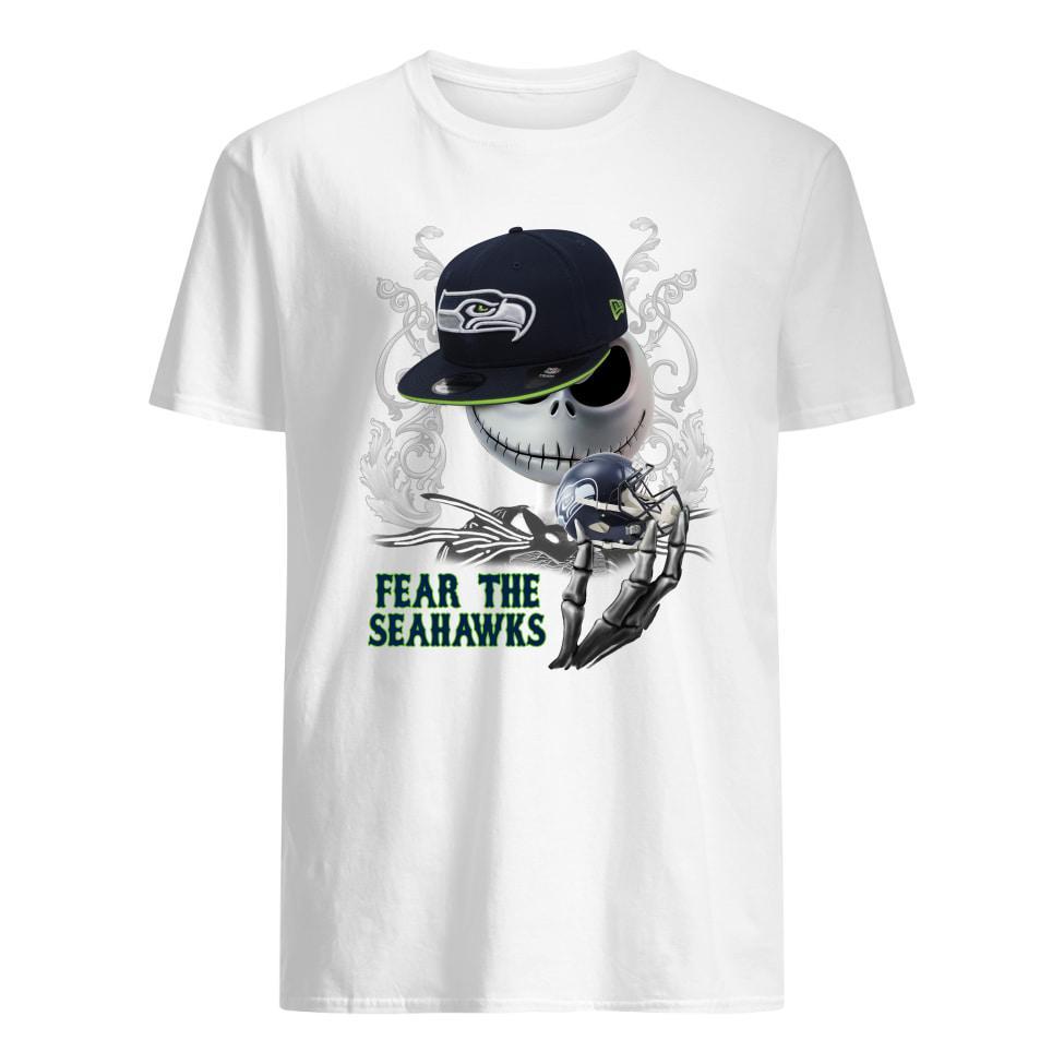 Jack Skellington fear the Seattle Seahawks shirt