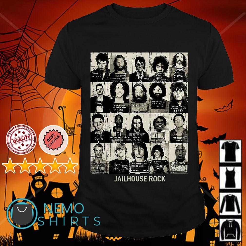 Jail House Rock rock star mugshots shirt