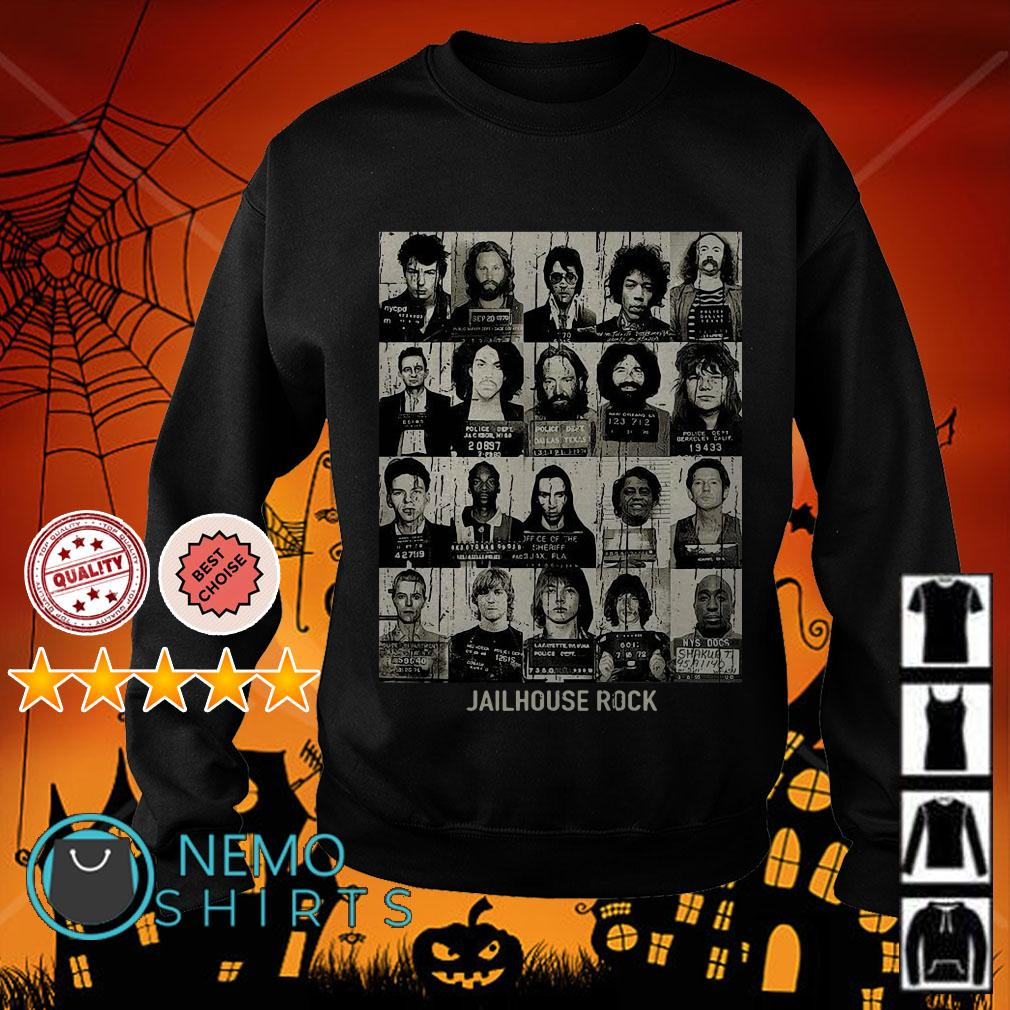 Jail House Rock rock star mugshots Sweater